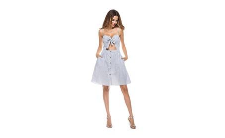 Women's Patterned Rib Sleeveless Side Slit Midi Dress cdbb47bd-7e19-4efc-84e0-f08f0a6e34b6
