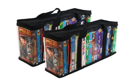 Evelots 2 VHS Storage Cases, Store 36 Tapes Total & Organize Collection b1f09929-3068-4de0-854a-983bd1ad29bc