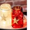 American Flag-Inspired Glass Mason Jar with String Lights Set (3-Pk.)