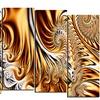 Gold & Silver Ribbons -  Abstract  Art - 60x32 - 5 Panels