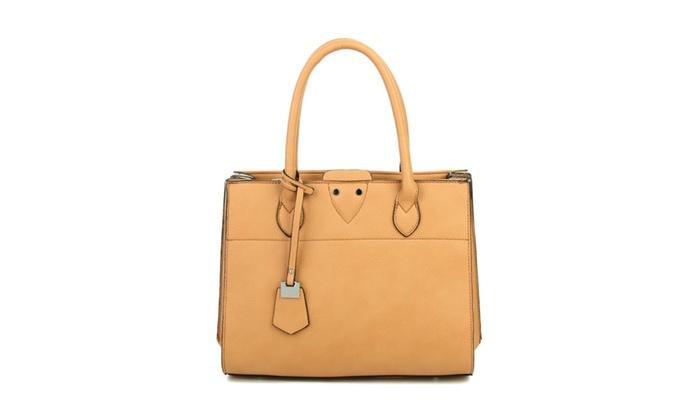 28a1deb4360d Moneta Vegan Leather Tote Hand Bag ...