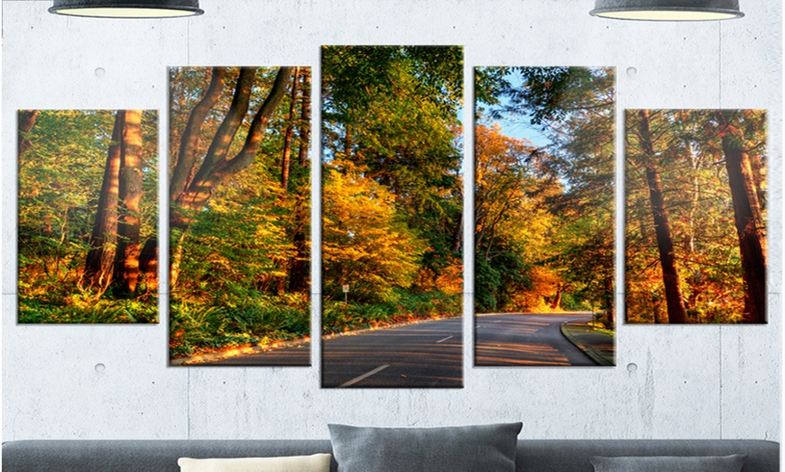 Up To 14 Off On Road Through Lit Up Fall Fore Groupon Goods