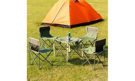 Portable Folding Table Chairs Set Outdoor Camp Beach Picnic w/ Carrying Bag ca10edf0-a150-4dfd-8df7-a61d280e99bf