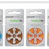 Power One Zinc Air Hearing Aid Batteries Mercury Free - 60 Batteries