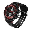 Mens LED Waterproof Sports Military Watch Shock Resistant