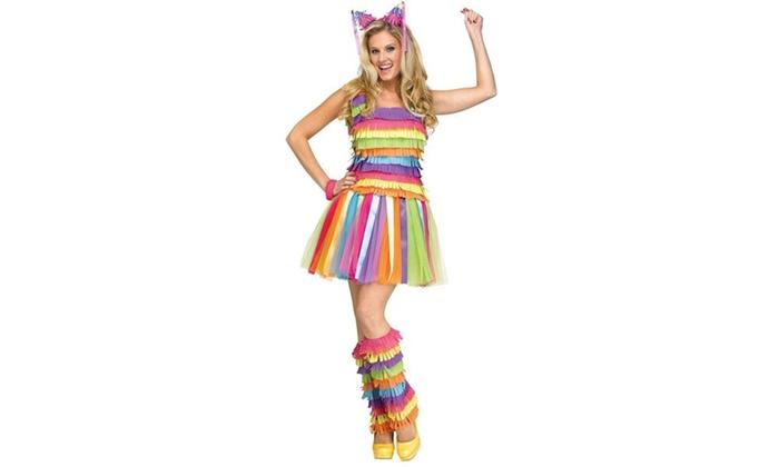 Party Pinata Dress Adult Costume