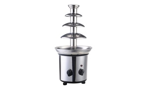 Nostalgia  2 lbs - Stainless Steel Cascading Chocolate Fondue Fountain