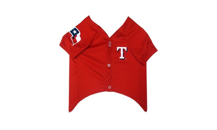 quality design aab50 f7719 Pets First Texas Rangers Dog Jersey | Groupon