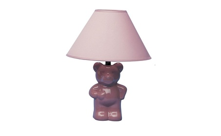 Ore International 611PK Ceramic Teddy Bear Lamp - Pink 7b578436-ae5d-43c0-92d3-38f4d5ca1497