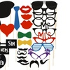 Zodaca Party Masks Props Moustache Stick Photography(29pcs Pack)
