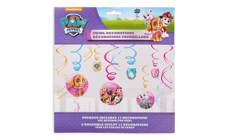 American Greetings PAW Patrol Pink Hanging Party Decorations ab302740-d59d-40ea-ba44-603f5ad5cd11