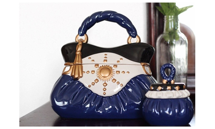 Ceramic Handbag Decorative Cookie Jar