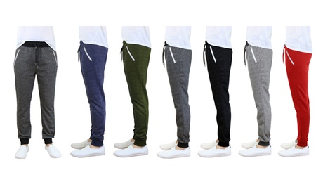 Men's French-Terry Slim-Fit Joggers with Zipper Pockets abf9671a-f152-4af4-af55-beac4de32d34
