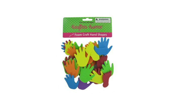 Bulk buys foam hand and feet craft sticker shapes case of 12