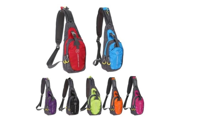Sling Bag Travel Bag School Pack Chest Bag Hiking Bicycle Pouch