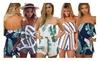 Hellochic: Womens Off Shoulder Romper Floral Print Striped Jumpsuit Playsuit