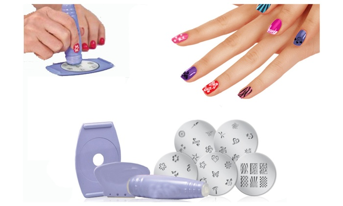 Nail Art Stencil Stamping Kit Set