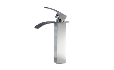 BWE Waterfall Bathroom Sink Vessel Faucet Nickel Brushed Bath Spout - Nickel Brushed 130f5e6e-7180-4823-9f02-6c5685ceca67