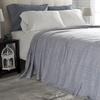 Lavish Home 100% Cotton Chevron Luxury Soft Blanket