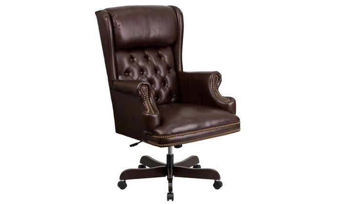 Up To 50% Off on High Back Traditional Tufted ...   Groupon Goods Tufted Leather Office Chair on big lots nailhead chair, broyhill executive chair, tufted arm chair, mid century office chair, hancock and moore executive chair, product executive office chair, victorian tufted chair, parsons tufted dining chair, tufted fabric chair, antique office chair, tufted modern chair, gray tufted chair, tufted nailhead chairs, tufted back chair, heywood wakefield office chair, velvet tufted chair, leather club chair, tufted club chair, small tufted chair, classic office chair,