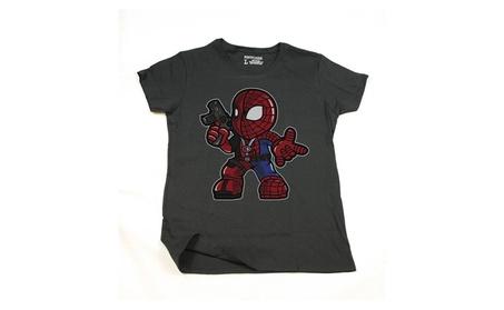 Hezku Inspired by Spiderman Deadpool, Black Short Sleev Adult Tee ffff12e3-2ccf-4360-a294-8827f4f7769b