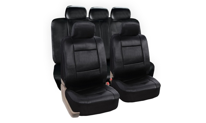 Zone Tech Universal Fit Interior Decor PU Leather Car Seat Covers
