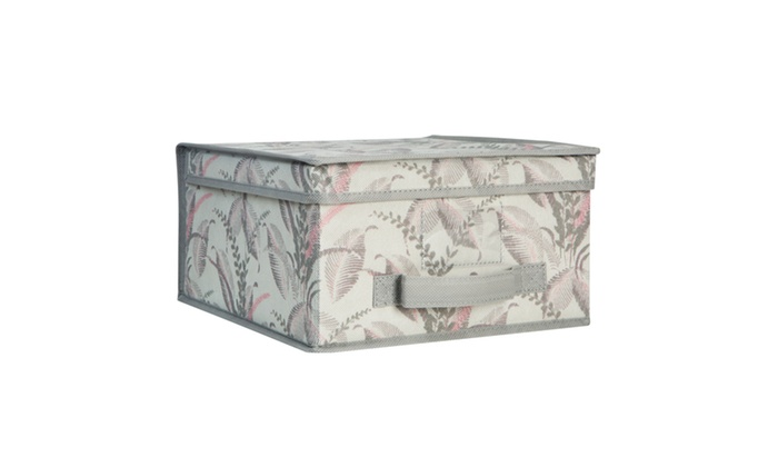 ... Laura Ashley Medium Collapsible Storage Box In Palm Leaf