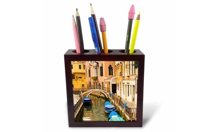 Tile Pen Holder - Small canal and bridge in Venice, Italy - EU16 KPI0038