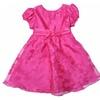 Baby Girls' Fuchsia Organza Floral Dress