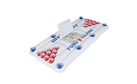 Inflatable Beer Pong Float w/Cooler b4e550ed-9dbc-44b6-9351-187c374570ee