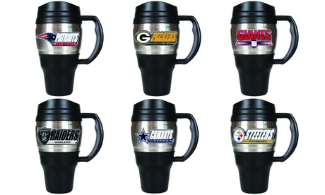 NFL 20 oz Super Insulated Stainless Steel Heavy Duty Travel Mug Cup Thermos a685fff6-f3a2-42f6-83cc-0bae4870fa06