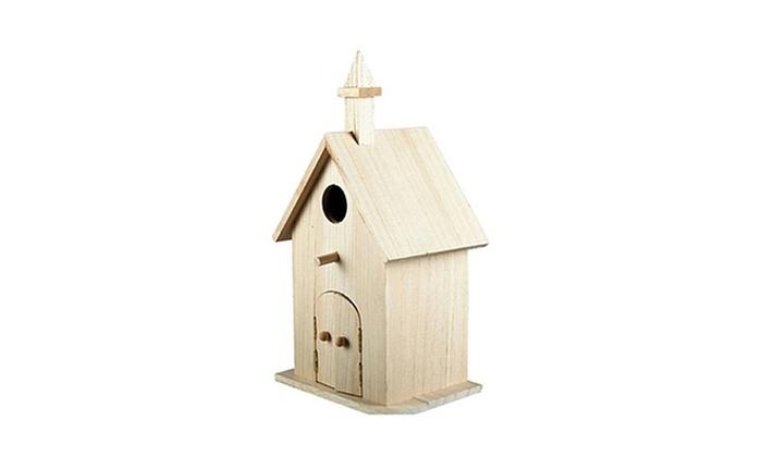 Church Design Wood Birdhouse Made of Natural Wood on modern birdhouse designs, mosaic birdhouse designs, cute birdhouse designs, exotic birdhouse designs, awesome birdhouse designs, unusual birdhouse designs, interesting birdhouse designs, whimsical birdhouse designs, ornate birdhouse designs, creative birdhouse designs,