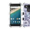 Insten Tuff Flowers Hybrid Case For Lg Google Nexus 5x Purple White