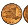 Very Rare 1857-1858 Complete 3 Coin Flying Eagle Cent Set