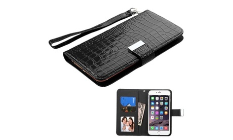 Insten Flip Leather Case For iPhone 6 6S Plus LG Moto Galaxy ZTE Z Max e026ddb9-6d48-401e-9dfe-9f79c513ab33