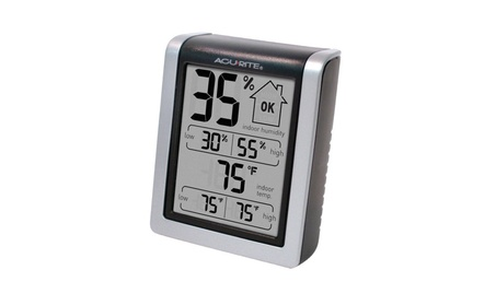 AcuRite 00613 Humidity Monitor with Indoor Thermometer
