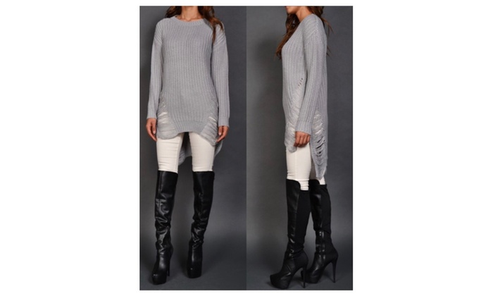 Distressed Sweater  – S/M