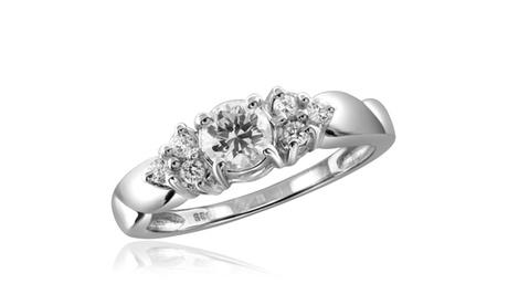 Diamonice 1.10 Carat Cubic Zirconia (AAA) Sterling Silver Fashion Ring 172e972a-a2ee-4b88-b4de-335a6e98203d