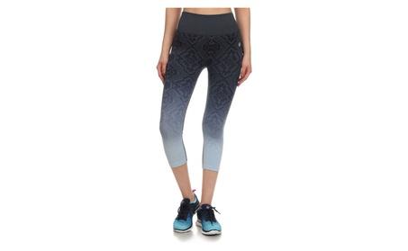 Junior's Teenager Activewear Printed Capri Leggings Yoga Pants 4795beb1-c28b-4b0c-843e-4770a0699313