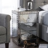Baxton Studio Azura Glamour Style Bedside Table