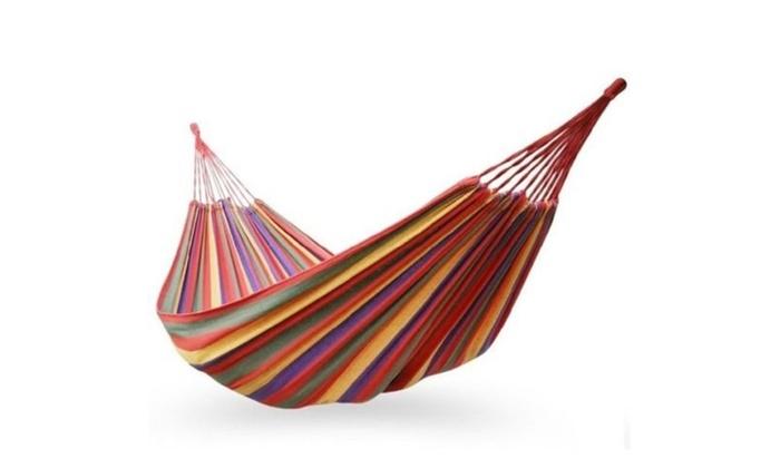 68″x 32″ Canvas Garden Hammock Camping Portable Beach Swing Bed