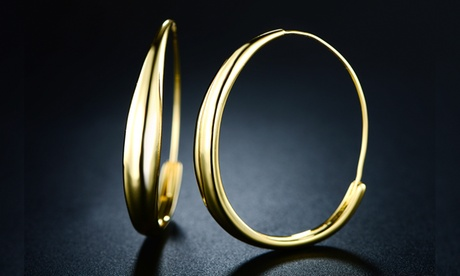 Endless Hoop Earrings in 18K Gold Plating By Euphir