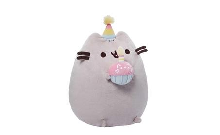 "Pusheen Happy Birthday Animal Plush Toy, 10.5"" x 5"" x 7 227688ec-c329-4f25-a673-0d8a7b9303db"