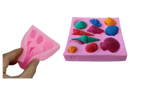 Super Chocolate Decor Baking Mould Silicone Shell Shape Fondant Mold 407c5561-147f-4776-ac2d-389759fc152c