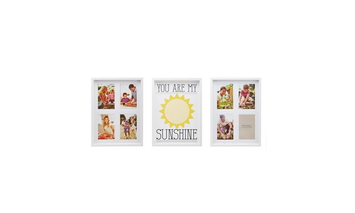 Melannco 3 Piece Your Are My Sunshine Collage Frame Set | Groupon