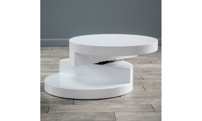 Modern Swivel Coffee Table.Emerson Modern Circular Swivel Coffee Table Groupon