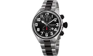 Akribos XXIV Men's Chronograph Stainless Steel Bracelet Watch AKGP853