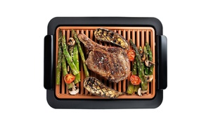 Gotham Steel Non-Stick Ceramic Smokeless Electric Grill Orange / Black