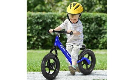 "Costway 12"" Balance Bike Kids No-Pedal Learn To Ride Pre Bike w/ Adjustable Seat"