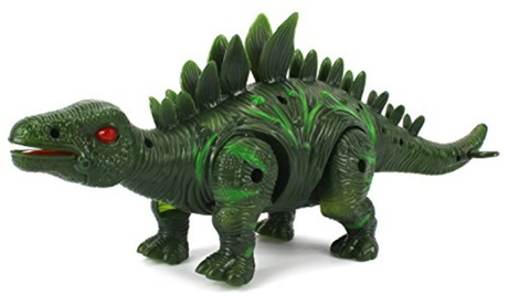 Dino Valley Stegosaurus Battery Operated Toy Dinosaur Figure (Colors May Vary) 4d69b1e8-a709-4ed5-9b0d-3bcfe2d58d38